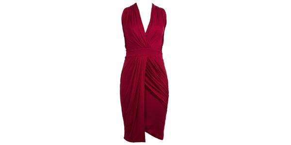 Dámske vínovo červené glamorous šaty CeMe London