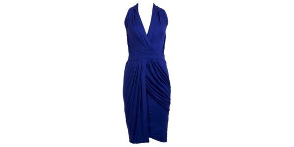 Dámske kobaltovo modré glamorous šaty CeMe London