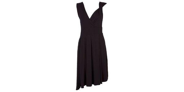 Dámske čierne šaty s bohatou splývavou sukňou CeMe London