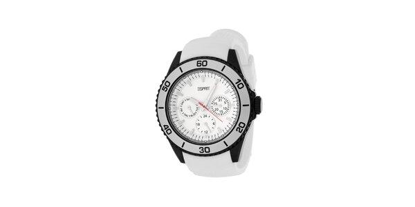 Dámske biele hodinky so silikonovým remienkom Esprit