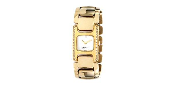 Dámske oceľové hodinky Esprit pozlátené