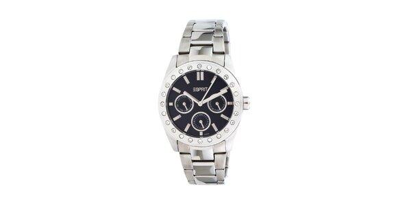 Dámske oceľové hodinky Esprit s kamienkami