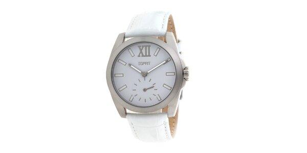 Dámske biele analogové hodinky Esprit