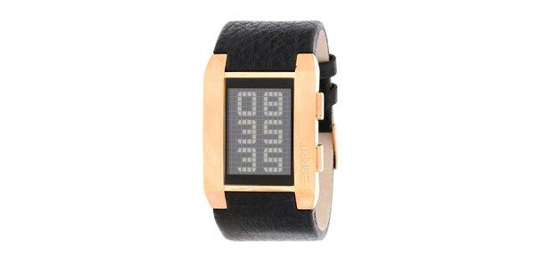Pánske zlaté digitálne hodinky Esprit