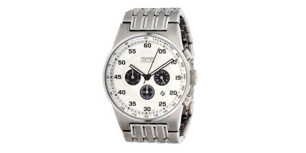 Pánske oceľové hodinky Esprit s tachymetrom