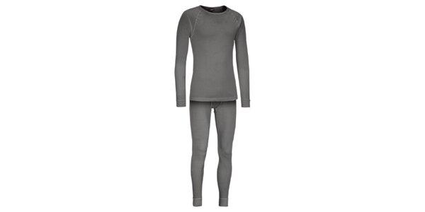 Set pánskeho funkčného prádla Maier vo svetlo šedej farbe