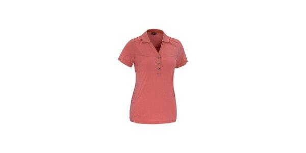 Dámske červené polo tričko Maier s kockovanými lemami