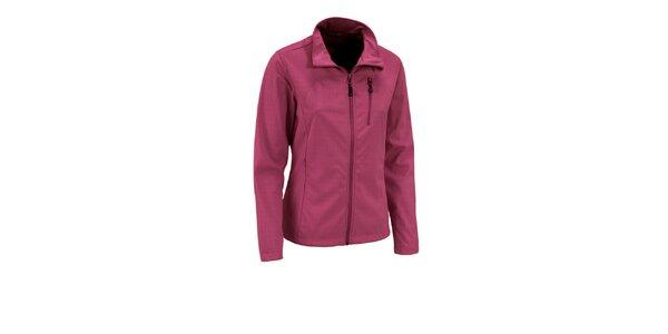 Dámska tmavo ružová trojvrstvová softshellová bunda Maier