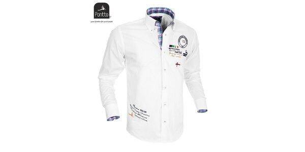 Pánska biela košeľa Pontto
