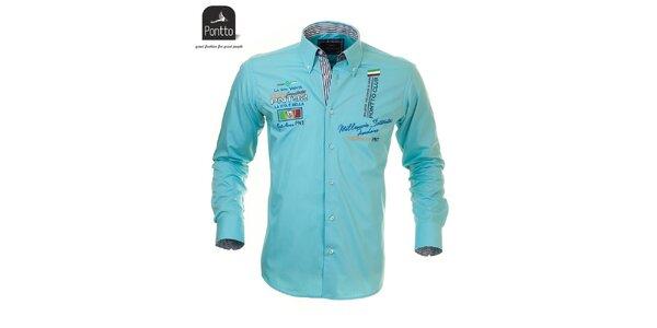 Tyrkysová košeľa Pontto