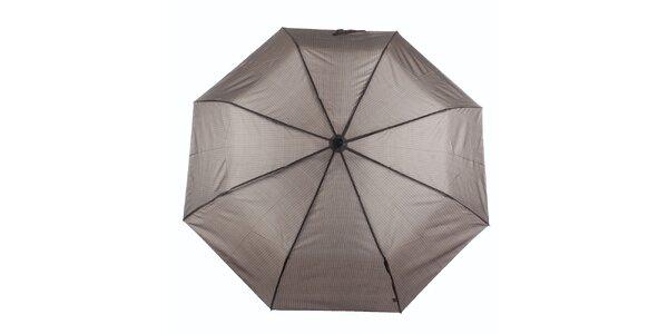 Pánsky hnedý dáždnik s prúžkom Ferré Milano