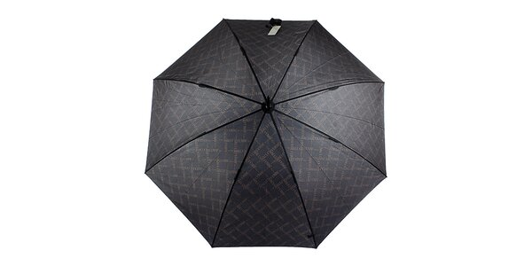 Pánsky čierny vystreľovací dáždnik so vzorom Ferré Milano