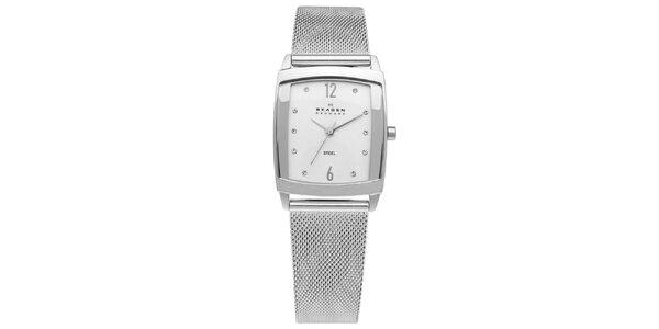 Dámske hranaté oceľové hodinky Skagen