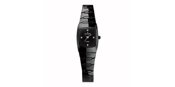 Dámske keramické hodinky Skagen čierne