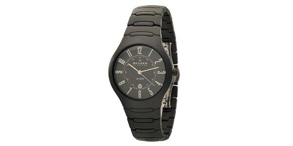 Pánske čierne keramické hodinky Skagen