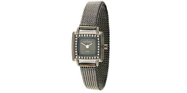 Dámske nerezové hodinky s kryštáľmi Skagen