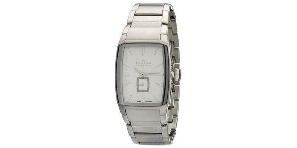 Pánske oceľové analogové hodinky Skagen