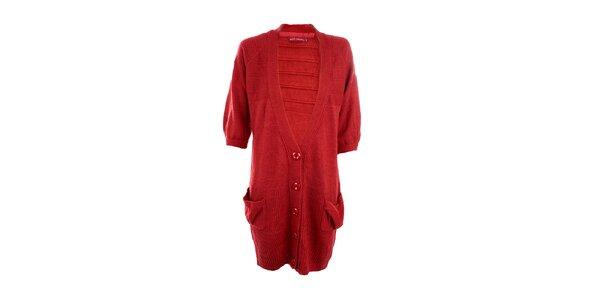 Dámsky červený dlhý sveter Next