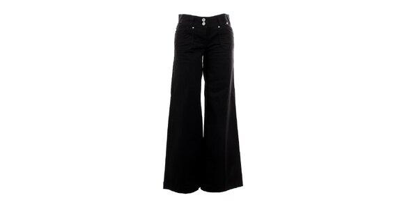 Dámske čierne zvonové nohavice Next