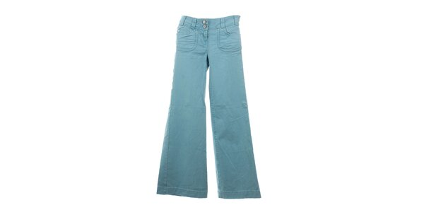 Dámske blankytne modré zvonové nohavice Next