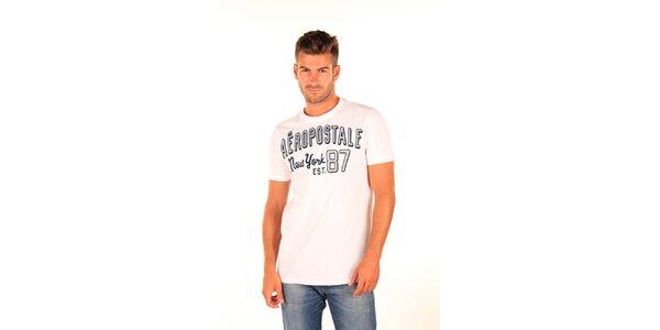 Pánske biele tričko Aéropostale s retro nápisom