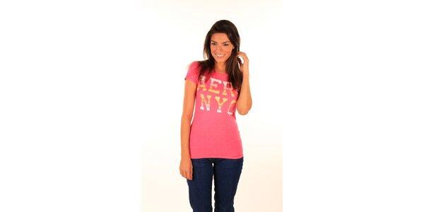 Dámske ružové tričko s nápisom Aéropostale