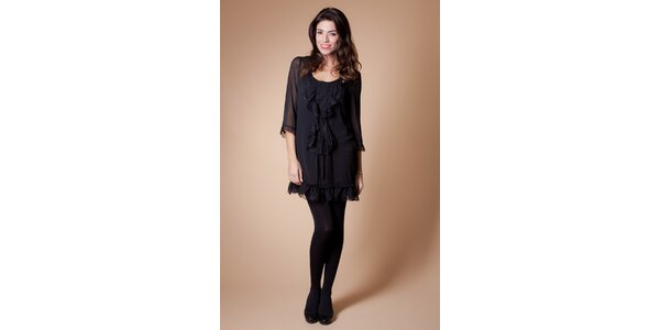 Dámske čierne šaty Poete