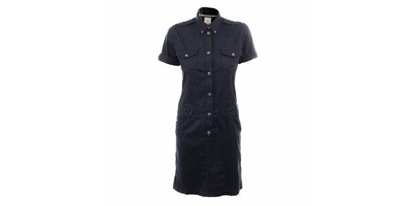 Dámske tmavomodré košeľové šaty Aeronautica Militare