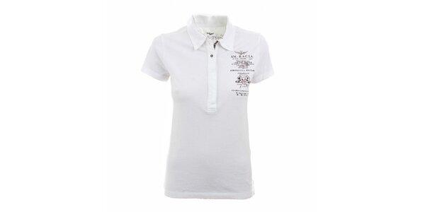 Dámske biele polo tričko Aeronautica Militare
