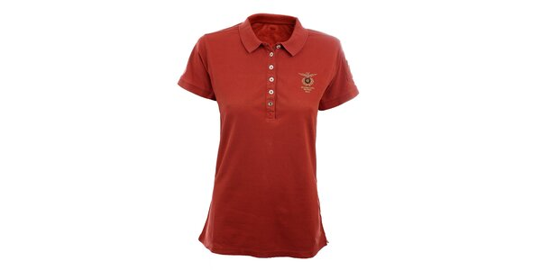 Dámske červené polo tričko Aeronautica Militare