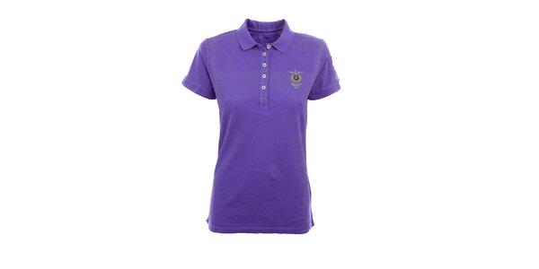Dámske fialové polo tričko Aeronautica Militare