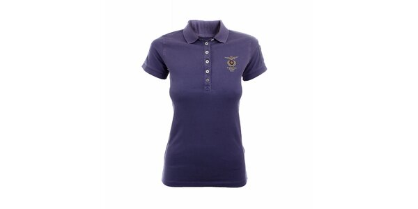 Dámske fialkové polo tričko Aeronautica Militare