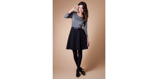 Dámske čierno-šedé šaty Poete