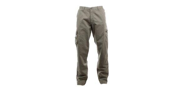 Pánske šedé kapsáčové nohavice Aeronautica Militare