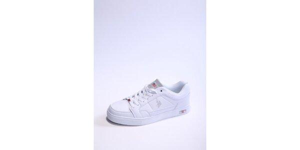 Pánske bielo-strieborné tenisky U.S. Polo