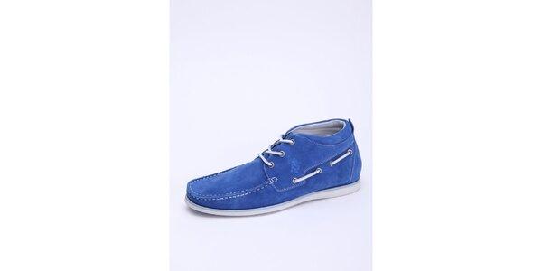Pánske nebesky modré semišové členkové topánky U.S. Polo
