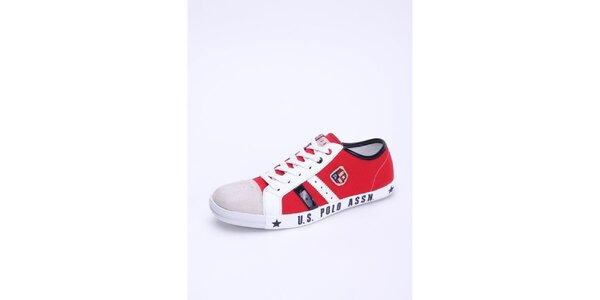 Pánske červeno-biele tenisky U.S. Polo