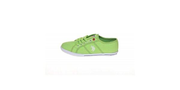 Dámske zelené plátené tenisky U.S. Polo