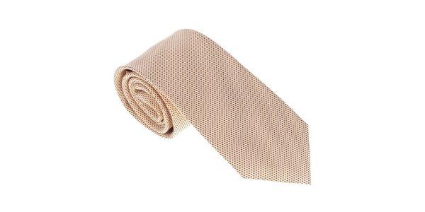 Luxusná okrová kravata Castellet Barcelona