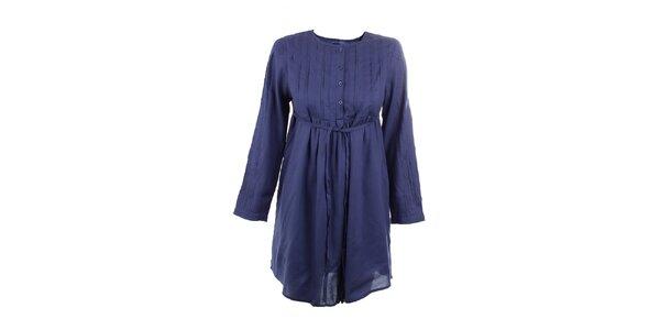 Dámske tmavo modré viskózové šaty Tantra