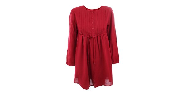 Dámske tmavo červené viskózové šaty Tantra
