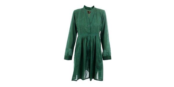 Dámske zelené košeľové šaty Tantra