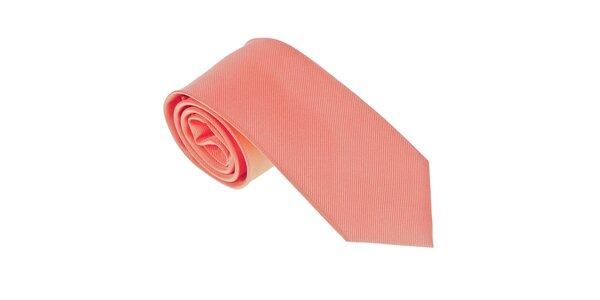 Luxusná pastelovo oranžová kravata Castellet Barcelona