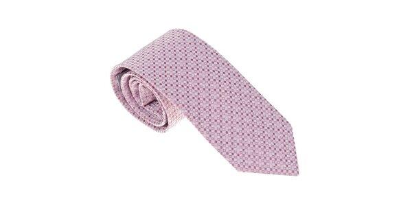 Luxusná ružová kravata s detailami Castellet Barcelona