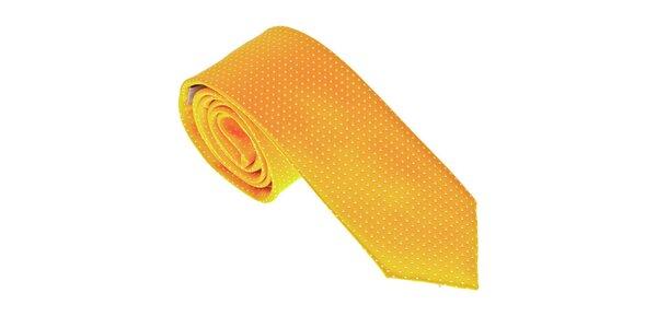 Luxusná žltá kravata Castellet Barcelona