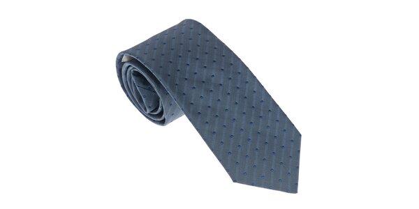 Luxusná modrá kravata Castellet Barcelona
