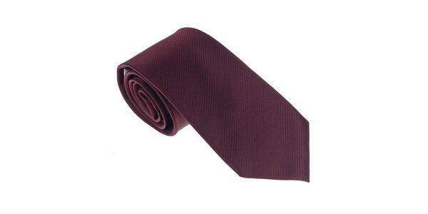 Luxusná tmavo červená kravata Castellet Barcelona