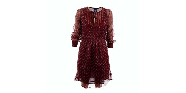 Dámske burgundy šaty Tantra