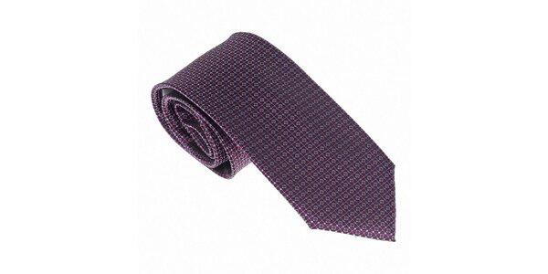 Luxusná fialovomodrá kravata Castellet Barcelona