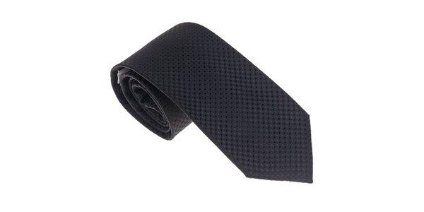 Luxusná čierna kravata Castellet Barcelona